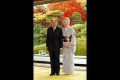 Emperor Akihito and Empress Michiko at the Imperial Palace in Tokyo, December 9 2015