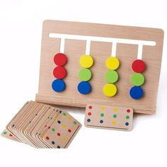 Montessori Four Colors Matching Early Childhood Education Toy