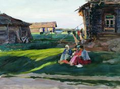 Evening in the Village by Sergei Vinogradov, CTD