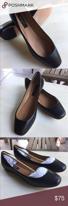 Ann Taylor Ballet Flats Softest leather you'll find from Ann Taylor. These brand new ballet flats are discontinued and feature a leather exterior, interior and sole. Really well made they feel like really soft and luxurious gloves for your feet. True gems. Ann Taylor Shoes Flats & Loafers