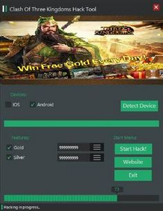 Clash Of Three Kingdoms Hack Test Card, Cheating, Android, Hacks, Hack Tool, Website, Ios, Free, Tips