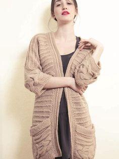 Hortensia Handknitted Sweater Coat