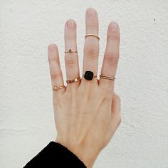 Rings layered high | The Lifestyle Edit
