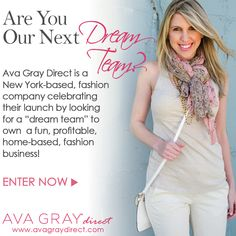"Start your own home-based business in the fashion industry.... Win a ""Sampler Boutique"" from Ava Gray Direct valued at $350! @Ava Gray Direct"