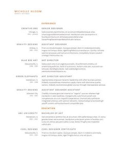 Free Resume Template By HloomCom  Aa    Template