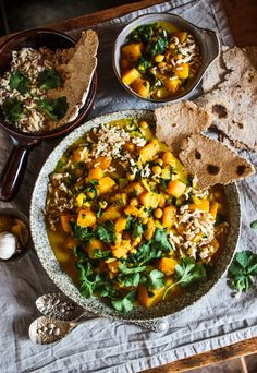 Butternut Squash, Chickpea & Coconut Curry  #vegan #chickpeacurry #butternutsquashcurry #coconutcurry