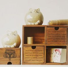 $11 gift idea - crafts, the zakka groceries old wooden box 4 drawer storage box wooden box-ZZKKO