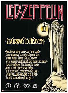 """Led Zeppelin Stairway to Heaven 1976 Poster   • 100% Mint unused condition • Well discounted price + we combine shipping • Click on image for awesome view • Poster is 12"""" x 18"""" • Semi-Gloss Finish • Great Music Collectible - superb copy of original • Usually ships within 72 hours or less with tracking. • Satisfaction guaranteed or your money back.Go to: Sportsworldwest.com"""
