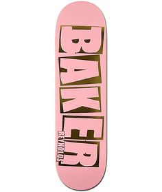 Stand out as your shred the skate parks with a pink and metallic gold Baker Reynolds text logo graphic and a solid concave shape to give your tricks solid pop.
