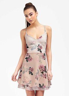 Ariana For Lipsy Rose Print Skater Dress