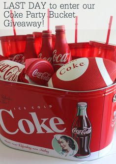 Last day to enter our Coke Party Bucket Giveaway! #giveaway #superbowl