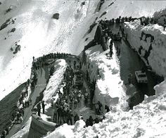 Stelvio Pass in the 1975 Giro d'Italia. From Cycle Sport's supplement Giro d'Italia: Scenic Images of the Race.