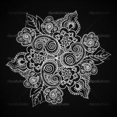 Super Ideas for tattoo mandala shoulder zentangle Trendy Tattoos, Love Tattoos, Beautiful Tattoos, New Tattoos, Tatoos, Art Et Illustration, Illustrations, Paisley Lace Tattoo, White Mandala Tattoo