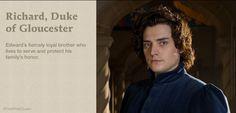 Richard, Duke of Gloucester (Richard III) played by Aneurin Barnard