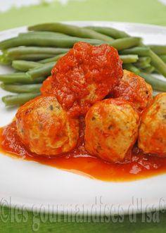 Boulettes de poulet à la sauce tomate - Les gourmandises d'Isa