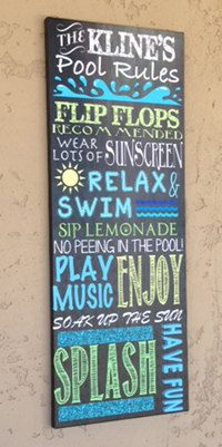 Custom Outdoor Digital Chalkboard Pool sign. by CustomPrintablesNY, $7.00