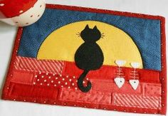 Moonlit Cat Mug Rug