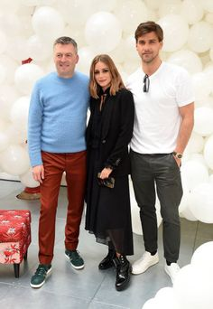 Markus Lupfer Olivia Palermo and Johannes Huebl attend the Markus Lupfer SS18 presentation during London Fashion Week September 2017 on September 16...
