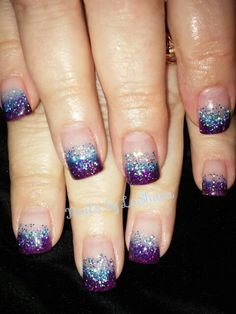 Young nails acrylic with glitter