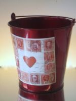 Valentines Metallic Bucket - Super Floral Distributors - Decor, Floral accessories and Crafters accessories in Cape Town