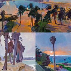 Palms. Details from paintings by Marcia Burtt in our The...