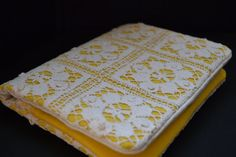 Yellow Square Lace purse by ChuChuLondon on Etsy, $59.75