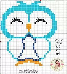 Gráficos de lindas corujinhas em ponto cruz!! Imagens retiradas da net!!