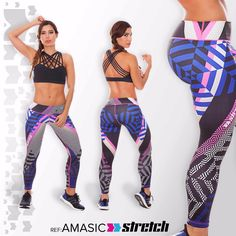 Leggins Stretch Fiber Ropa Deportiva Colombiana Leggings ...