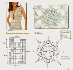 Crochet Patterns to Try: Dream of Summer - 2 Free Charts for Crochet Tank Tops