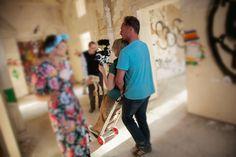 Dreharbeiten im Anscharpark Kiel, Juli 2014 Foto: Frank Schmerschneider