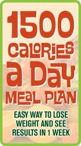 Try this 1500 Calories A Day Meal Plan, you will see the weight loss results you have been waiting for.
