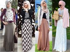 long cardigan hijab, Hijab outfits in pastel colors http://www.justtrendygirls.com/hijab-outfits-in-pastel-colors/