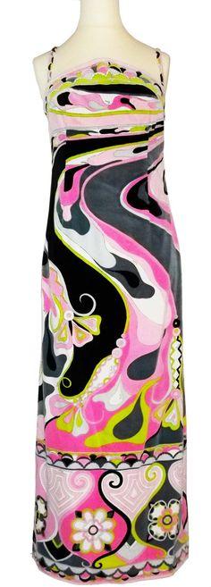 Vintage 70s EMILIO PUCCI velvet psychelic print long dress