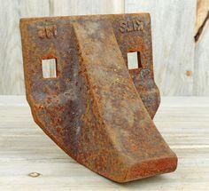 Mask ~ Tribal ~ Rusted Metal Plate ~ Welded Art ~ Heavy Metal ~ Welding ~ Industrial Art ~ Sculpture, Metal Assemblage, Metal Salvage #2-23 by HighDesertRust on Etsy