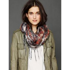 Free People Paisley Tie Dyed Scarf ($58) ❤ liked on Polyvore
