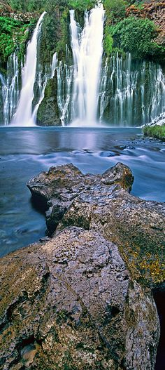 Burney Falls - Mcarthur Burney State Park, California; there are so many awesome places in the USA we need to see, better get busy ;)