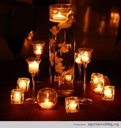 Nigerian wedding: 25 Stunning Candle Centerpiece Ideas For Wedding Reception Tables... |