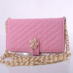 iphone 6 Case Tonsee Chain Wristlet Leather Flip Wallet for iphone 6 Pink >>> Click image for more details. (This is an affiliate link) Iphone 6 Pink, Apple Iphone 6, Leather Case, Pu Leather, Leather Wallet, Burberry Women, Skin Care Tools, Chanel Boy Bag, Iphone Case Covers