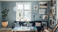 Gallery Wall, Decor, Wall, Home Living Room, House, Gallery Wall Inspiration, Light Blue Walls, Interior Design, Room
