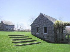 modern landscaping garden landscape plants Rumsey steps in lawn