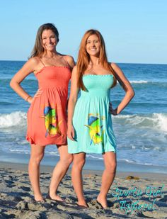38e29bedd6 Coral and Mint Dolphin dress · Sporty GirlsFishing ...