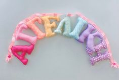 Rainbow fabric lettersgirl's room name signFabric name   Etsy Nursery Banner, Wall Banner, Nursery Letters, Nursery Decor, Name Wall Decor, Name Wall Art, Felt Giraffe, Fabric Letters, Hanging Letters