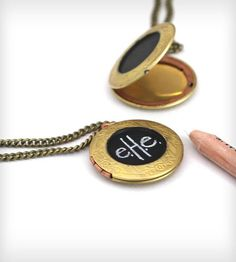 Chalkboard Locket Necklace | This locket has its own chalkboard to let people know what you... | Necklaces