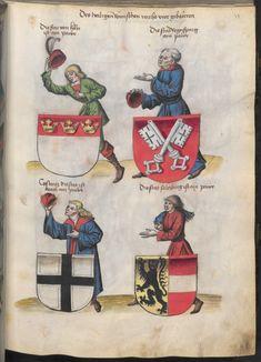 Grünenberg, Konrad: Das Wappenbuch Conrads von Grünenberg, Ritters und Bürgers zu Constanz um 1480 Cgm 145 Folio 38