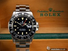 Rolex Vintage GMT Master Watch - Ref 16750. Dated 1988, Tritium Dial, Plexi Glass. We Buy and Sell Vintage and Modern Rolex Watches. www.watches.co.uk