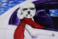 El jefe | The boss | Acrílico sobre lienzo | Acrylic on canvas by Pili Tejedo 90 x 60 cm