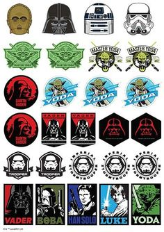 Star Wars Edible Icons A4 Sheet http://partyzone.com.au/boys-party-themes-star-wars-party-supplies-biggest-range-c-228_335.html
