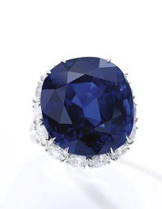 Very fine sapphire and diamond ring - 40.13-carat Burmese - Estimate $811,621 - 1,415,134 (=)