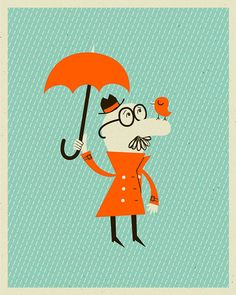 Rainy Days in Cute Illustrations by Alex W. Westgate