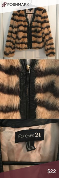 Faux Fur Coat Perfect condition. Size - Medium. Forever 21 Jackets & Coats
